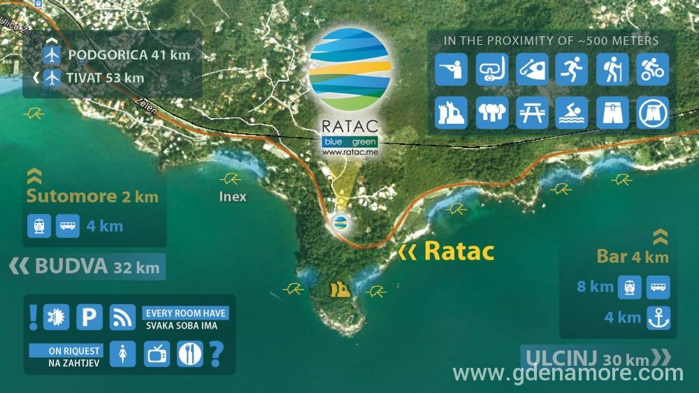 Private Accommodation Ratac Blue Green In Place Bar Montenegro