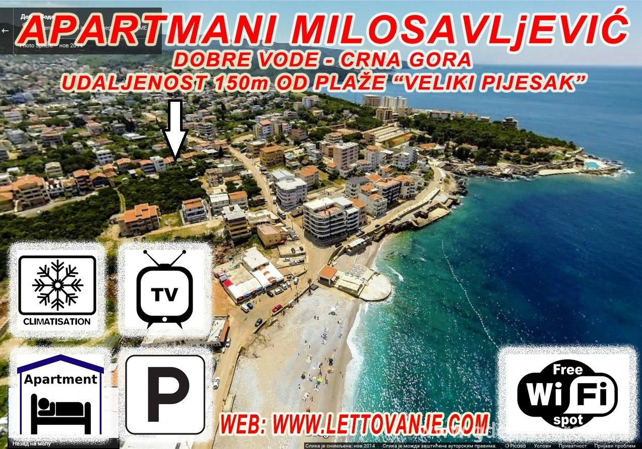 dobre vode mapa Private accommodation Milosavljevic Apartmani in place Dobre Vode  dobre vode mapa